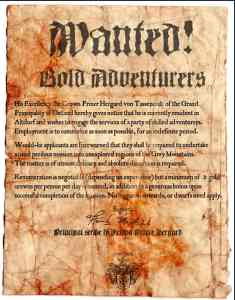 Adventurer's Wanted